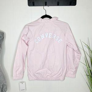 NWT Converse Track Jacket Baby Pink Medium 10-12